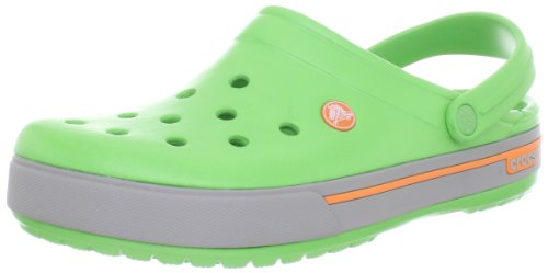 crocs 12836 - Zuecos, Unisex Verde (Lime/Light Grey)