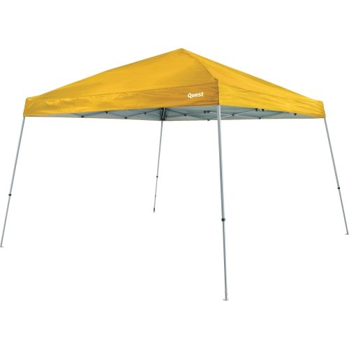 - Quest Q64 10 FT. x 10 FT. Slant Leg Instant Up Canopy - (Gold)