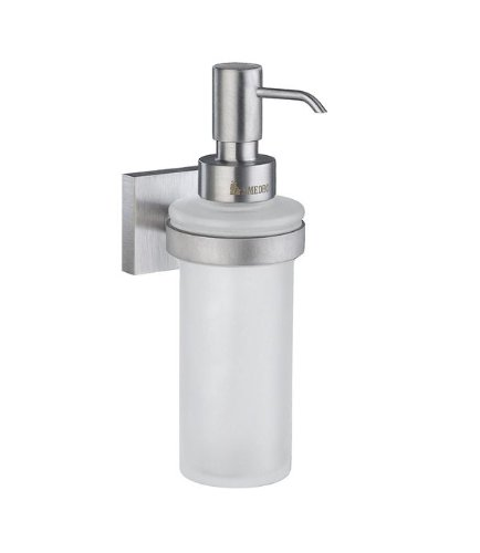 - Smedbo House Soap Dispenser RS369 Brushed Chrome.Include Glue.Fixing Without Drilling