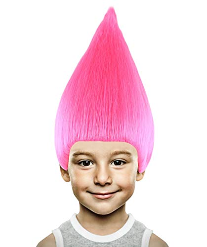 Halloween Party Online Colorful Troll Wig Collection (Kids, Pink) -