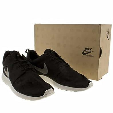 yorlr Nike Roshe Run - 10 Uk - Black & Grey - Fabric: Amazon.co.uk