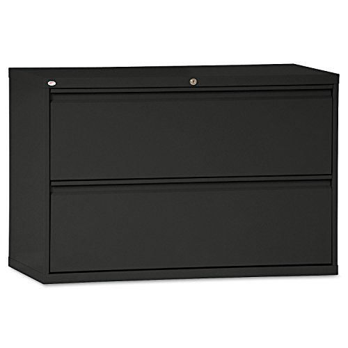 (Alera LF4229BL Two-Drawer Lateral File Cabinet, 42w X 19-1/4d X 28-3/8h, Black)