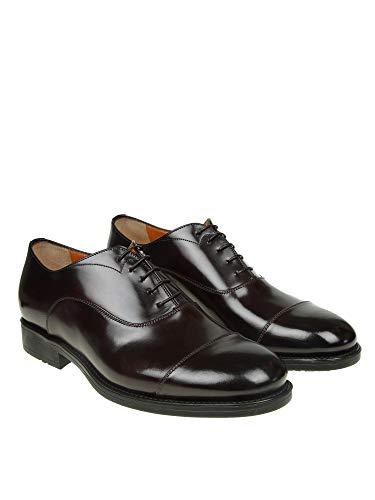 Cuir MGBR16255SMOIRYCQ64 Santoni Chaussures Marron À Lacets Femme qgq56wnt