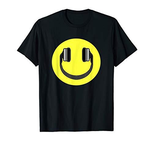 Club Smiley Techno Music DJ Headphone Shirt T-Shirt ()