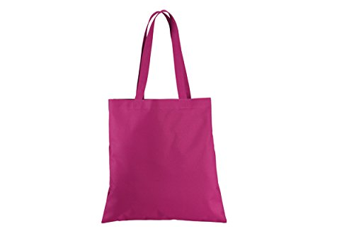 4df2a64e30849 6 Pack Polyester Canvas Reusable Document Tote Bag 15.5