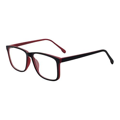 Eyewear Frame Computer Eyeglasses Men Oversized Glasses Blue Light Blocking Game ()