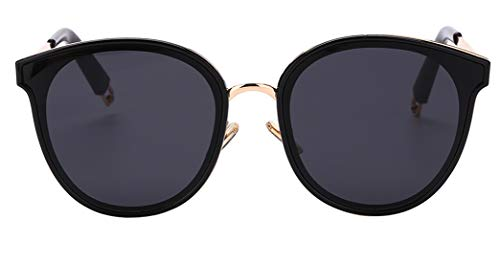 Oversized Sunglasses Round Mirroed Lens U117