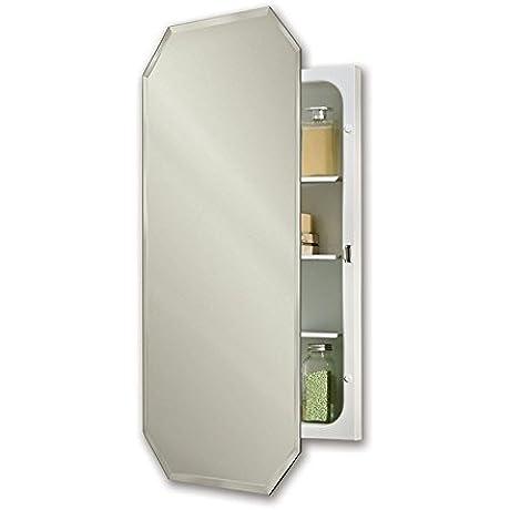 Jensen 1456X Octagon Bevel Mirror 17 375 Medicine Cabinet 17 37 X 32