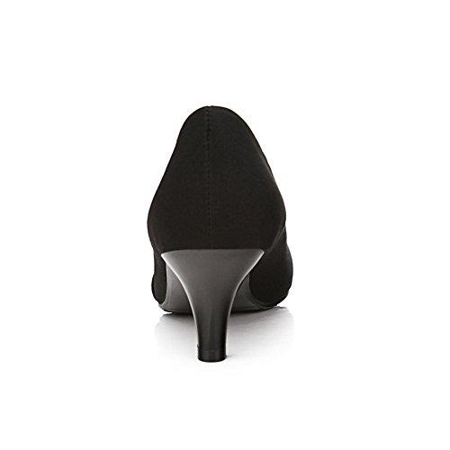 Voguezone009 Satinato Stoffa Alto Womens Tacco Tacchi Strass Con 5 Metallo In Nero A Uk E Parti Punta gg0r8q
