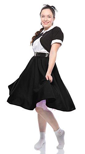 Adult Circle Skirt - Hey Viv ! Fabric Circle Skirt - Small/Medium Size - Black