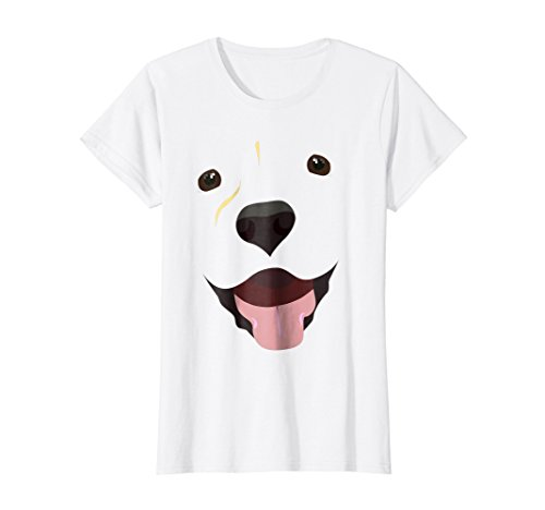 Womens Labrador Face Shirt | Funny Cute Lab Dog Costume T-Shirt Large -
