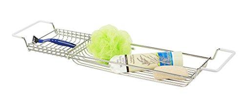 Home Basics Over the Bathtub Expandable Shower Caddy