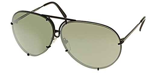 New Porsche Design P 8478 D-V656 (69/10/135)Black/Brown Olive with Silver Mirror - 8478 Sunglasses D