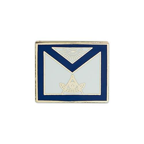 Past Master Sunburst Master Mason Apron Blue & White Masonic Lapel Pin - 3/4