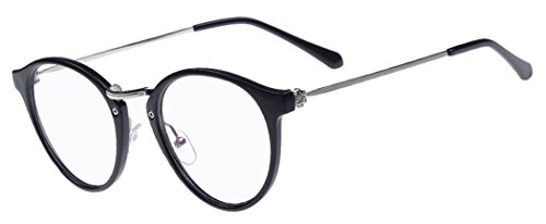 D.King Women Fashion Cat Eyeglasses Frames Black Frame Clear Lens 48mm