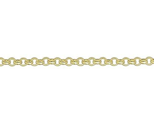 9ct or jaune mailles jaseron ronde 19,1cm/Bracelet 19cm