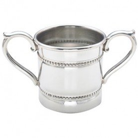 Reed & Barton Baby Beads Pewter 5-Ounce Double Handled Baby ()