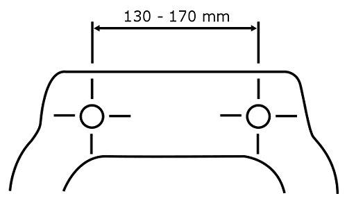 chrom-Metallbefestigung Dunkelbraun Wenko 144726100 WC-Sitz Bambus Dunkel 34.5 x 41.5 cm Toilettendeckel Bambus