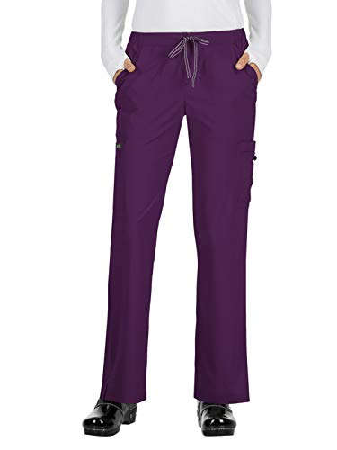 KOI Basics Women's Holly Scrub Pants Eggplant ST