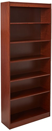 Lorell 7-Shelf Panel Bookcase, 36 by 12 by 84-Inch, Cherry