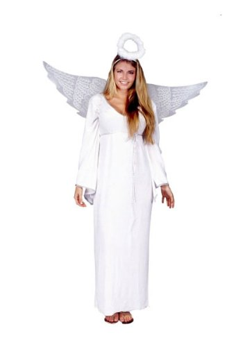 [RG Costumes Women's Classic Angel, White, One Size] (Angel Halloween Costumes For Women)