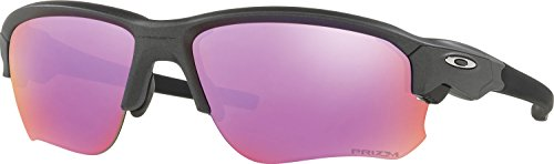 Oakley Men's Flak Draft Non-Polarized Iridium Rectangular Sunglasses, Steel, 67 - Lens Oakley Single