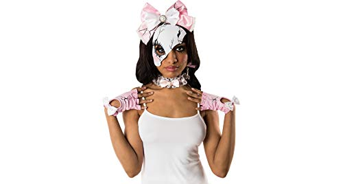 Papillion Accessories Pink Broken Doll Halloween Costume Accessory Kit for Women, 4 Pieces, by M&J Trimmings for $<!--$16.99-->