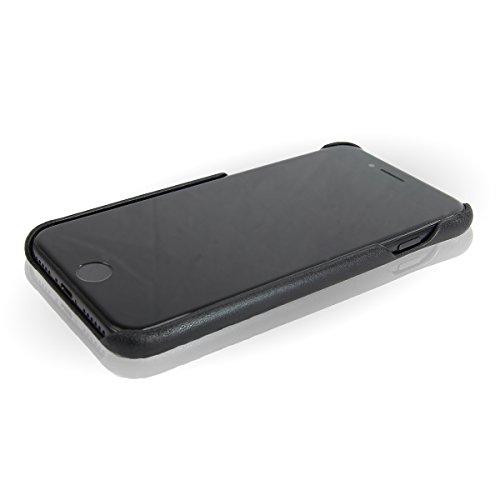 BULLAZO MENOR CLASSIC Apple iPhone 7 iPhone 8 Estuche de piel   Funda de piel   Estuche de piel delgada estuche de de negocios maletín de negocios   negro Black