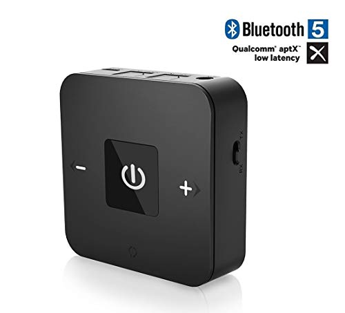 Friencity Bluetooth V5.0 Transmitter Receiver with APTX Low Latency, Wireless Audio Adapter with AUX Digital Optical Jack for TV PC Home Stereo PS4 Xbox DVD MP3 Speaker Headphones, 24-Month Warranty ()