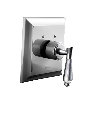 Santec 7093DC75-TM Satin Nickel Thermostatic Shower - Trim Only W/ Dc Handle (Includes 3/4