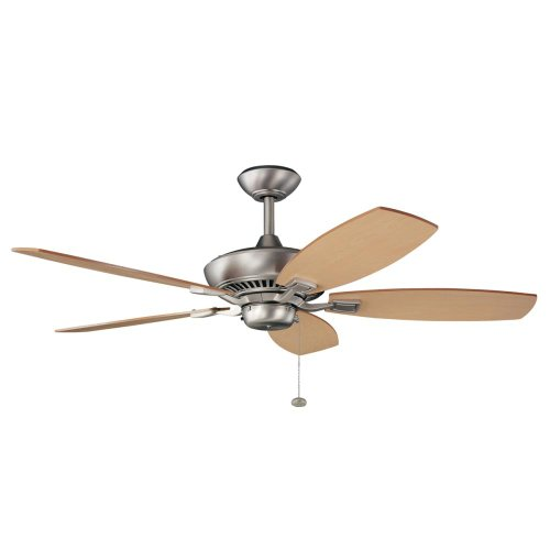 52 Canfield 5 Blade Ceiling Fan Finish Brushed Nickel with Cherry Maple Blades
