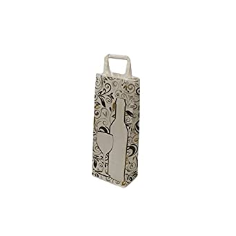 25 bolsas para botella decorado con papel Kraft blanco – 5979 ...