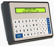 ASCII Operator Interface Terminal, 2x40 Backlit LCD, Alpha-numeric Keypad