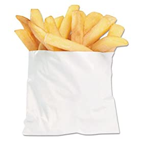 BGC450003 PB3 French Fry Bags, 4 1/2 x 2 x 3 1/2, White