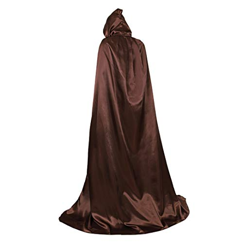 Full Length Unisex Tunic Hooded Robe Cloak Adult Halloween Costume Cosplay Capes Coffee-XL]()