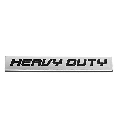 UrMarketOutlet HVDT Black/Chrome Aluminum Alloy Auto Trunk Door Fender Bumper Badge Decal Emblem Adhesive Tape Sticker