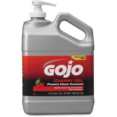 Gojo 2358-02 Cherry Gel Pumice Hand Cleaner Cherry 1 gal   B00FP42T50