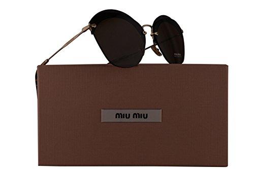 Miu Miu MU53SS Sunglasses Transparent Violet w/Brown Lens 63mm VX29L1 SMU 53S SMU53S MU - Sunglasses Miu Miu New