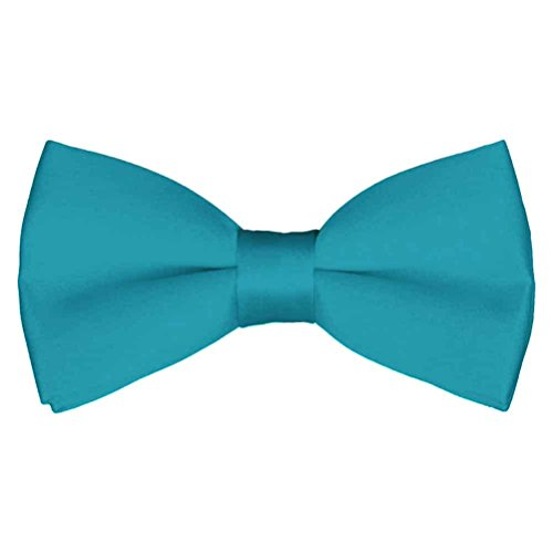 Mens Classic Pre-Tied Satin Formal Tuxedo Bowtie Adjustable Length Large Variety Colors Available, by Platinum Hanger (Jade)