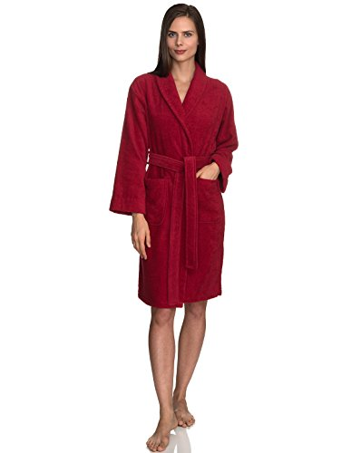 - TowelSelections Women's Robe, Turkish Cotton Short Terry Bathrobe X-Large American Beauty