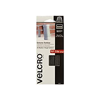 VELCRO Brand - Industrial Strength Extreme Outdoor   Heavy Duty, Superior Holding Power on Rough Surfaces   10 Stripes   4in x 1in   Titanium (B001O6T2ZS)   Amazon Products