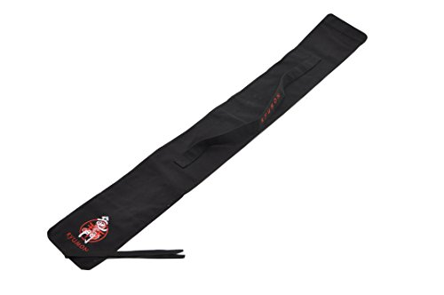 Handmade Sword – Ryumon Sword Carring Bag, Canvas, Durable Shoulder Strap, Katana Wakizashi Sword Holder or Storage, Embroidered Logo, Black
