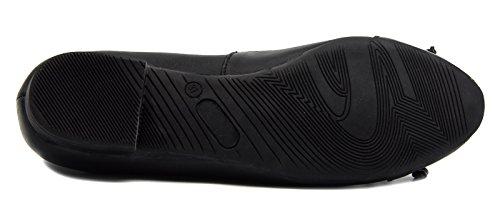 Chaussures Knixmax Mocassins Cuir Plates Femme Noir Ballerine Habillées xTTrIg