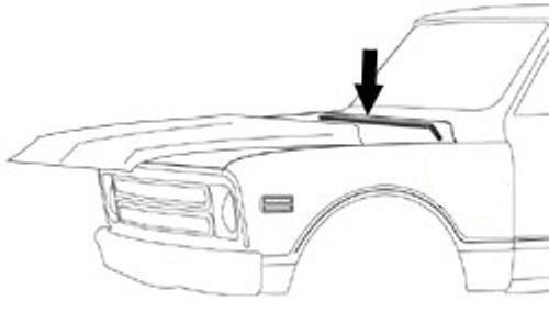 Precision Automotive 67-72 Chevy//GMC Truck Hood to Cowl Seal Rubber Weatherstrip C10 Blazer Suburban