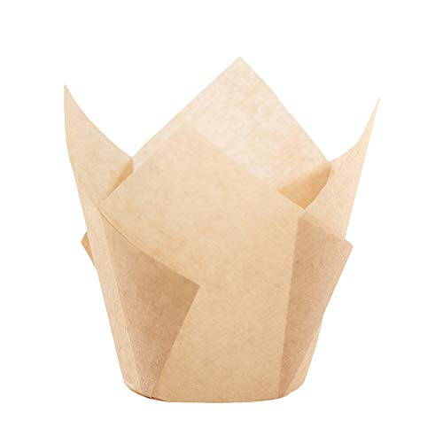 Tulip Cupcake Liner Baking Cup - Natural for Standard Size Cupcakes and Muffins Liners for Wedding Appx. 200 pc (Natural)