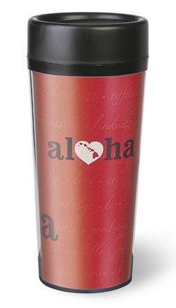 Heart of Hawaii Aloha Red Thermal Tumbler
