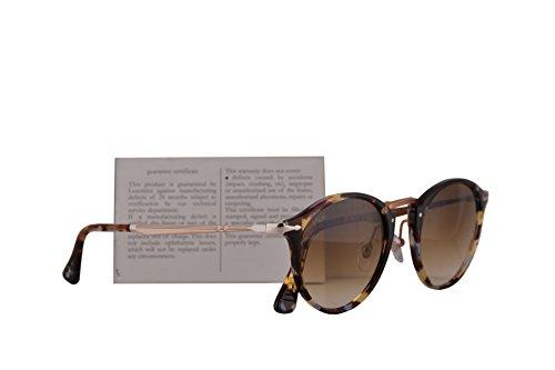 con PO3166 3166S de 3166 diseño marrón lente color mm sol PO de estilo havana caligrafía de con SPO Gafas de grosor PO3166S SPO 49 Persol Rqf71w