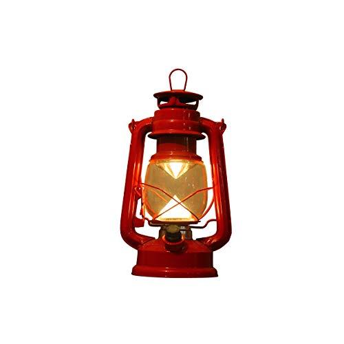Zlshm LED Rechargeable Kerosene Lamp Battery Light Tent Light Camping Light Lantern Camp Light, Red
