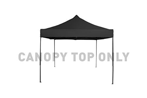 9.6' x 9.6' Square Replacement Canopy Gazebo Top Assorted Colors By Trademark Innovations (Black) Innovations Top
