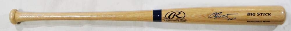 Chipper Jones Autographed Blonde Rawlings Big Stick Baseball Bat w/HOF Beckett Auth Blue